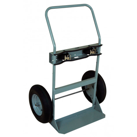 Double Cylinder Hand Truck, 16 Inch Pneumatic Wheels