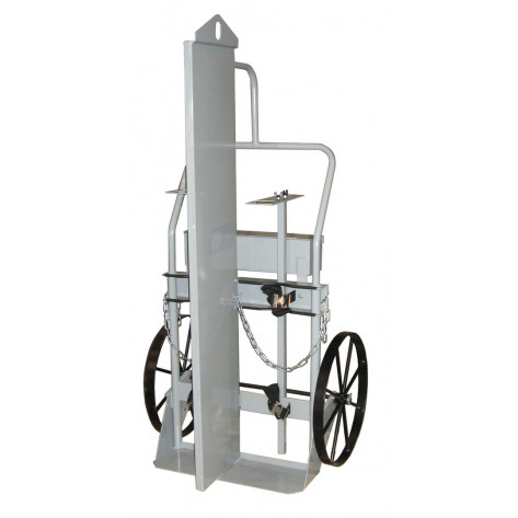 Double Cylinder Hand Truck with Firewall and Hoist Ring, 20 Inch Steel Wheels, Tool Box