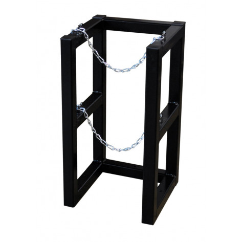 Gas Cylinder Barricade Rack, 1 Cylinder Capacity, 1 Wide by 1 Deep