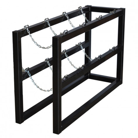 Gas Cylinder Barricade Rack, 4 Cylinder Capacity, 1 Wide by 4 Deep