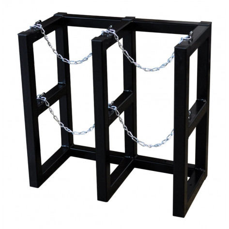 Gas Cylinder Barricade Rack, 2 Cylinder Capacity, 2 Wide by 1 Deep