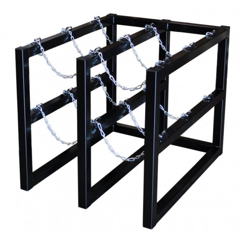 Gas Cylinder Barricade Rack, 6 Cylinder Capacity, 2 Wide by 3 Deep
