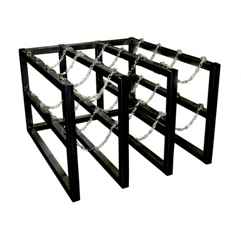 Gas Cylinder Barricade Rack, 4 Cylinder Capacity, 4 Wide by 1 Deep