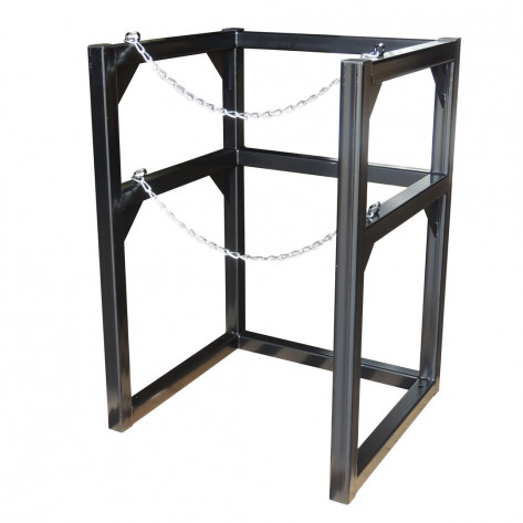 Gas Cylinder Barricade Rack, 1 Cryogenic Cylinder- 22 Inch in Diameter