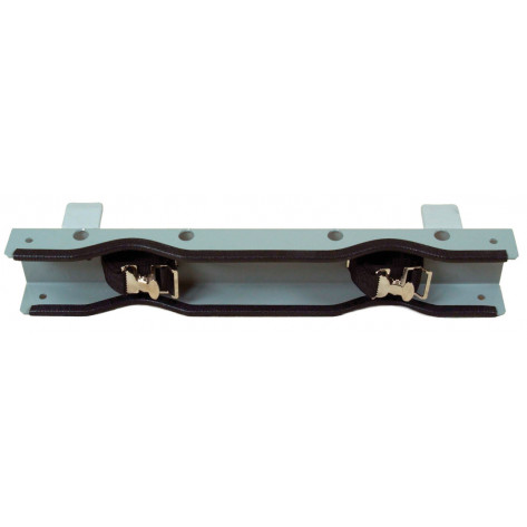 Gas Cylinder Support Bracket, 2 Cylinder Capacity, Bench Mount, Steel