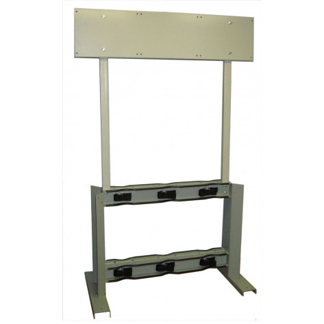 Gas Cylinder Process Stand, 6 Cylinder Capacity, Back-to-Back, Steel