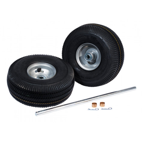 Pneumatic Wheels and Axle Set for Single Gas Cylinder Hand Trucks, 10.5 Inch