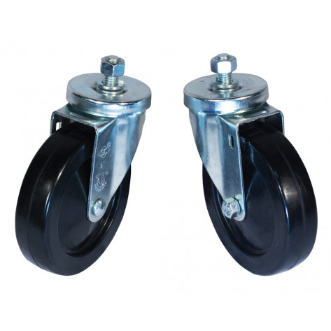Swivel Caster Set for Gas Cylinder Hand Trucks, 5 Inch