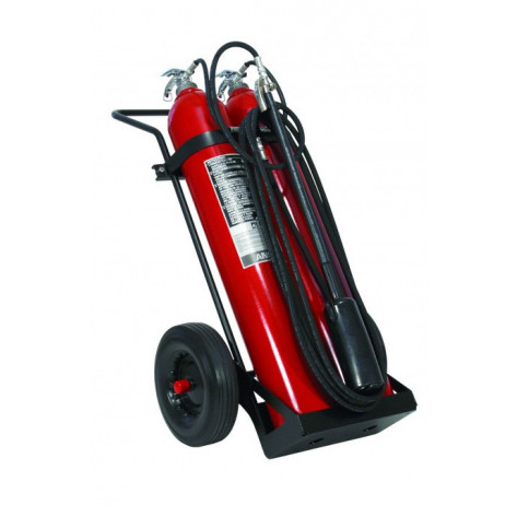 100LB CO2 WHEELED FIRE EXTINGUISHER