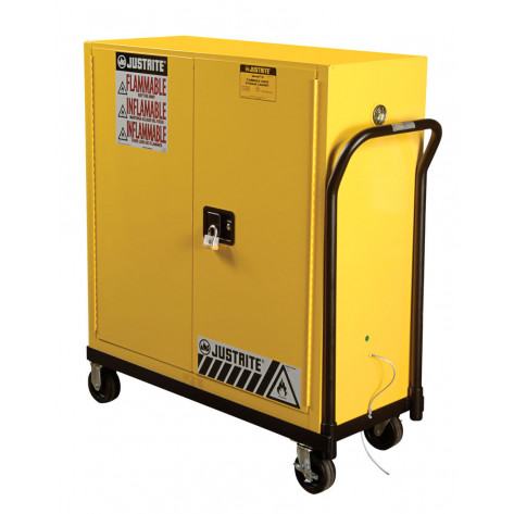 Rolling Cart for relocating cabinet, poly caster wheels, fits 30-GAL or Piggyback safety cabinets.