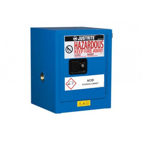 Sure-Grip  EX Countertop Hazardous Material Steel Safety Cabinet, Cap. 4 gal, 1 shelf 1 s/c door, Royal Blue.