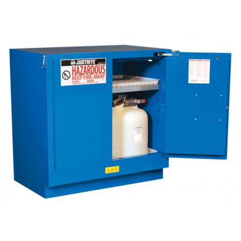 Sure-Grip  EX Undercounter Hazardous Material Steel Safety Cabinet, Cap. 22G, 1 shelf, 2 s/c doors Royal Blue.