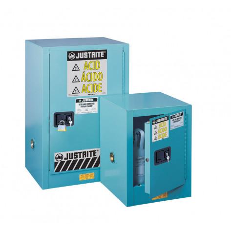 Sure-Grip  EX Compact Corrosives/Acid Steel Safety Cabinet, Cap. 12 GAL, 1 shelf, 1 m/c door, Blue.