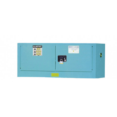 Sure-Grip  EX Piggyback Corrosives/Acid Steel Safety Cabinet, Cap. 12 gallons, 2 m/c doors, Blue.