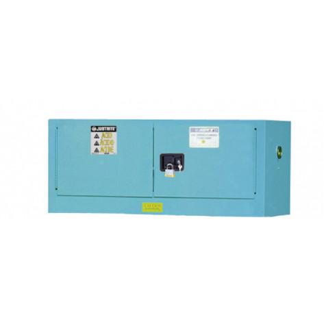 Sure-Grip  EX Piggyback Corrosives/Acid Steel Safety Cabinet, Cap. 12 gallons, 2 s/c doors, Blue.