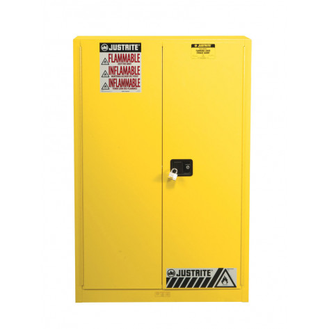 Sure-Grip  EX Combustibles Safety Cabinet for paint and ink, Cap. 60 GAL, 5 shelves, 2 m/c door, Yel.