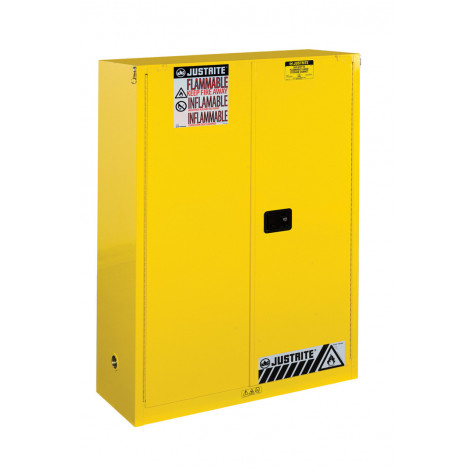 Sure-Grip  EX Combustibles Safety Cabinet for paint and ink, Cap. 60 GAL, 5 shelves, 2 s/c door, Yel.