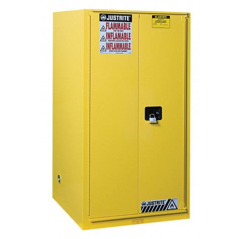 Sure-Grip  EX Combustibles Safety Cabinet for paint and ink, Cap. 96 GAL, 5 shelves, 2 s/c door, Yel.