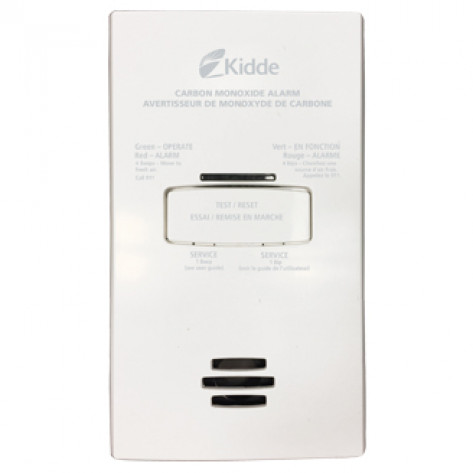 120V AC Plug-in Carbon Monoxide Alarm with 2 AA Battery Backup
