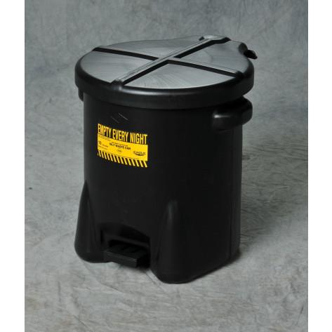 6 GAL Polyethylene - Black w/Foot Lever