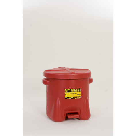 10 GAL Polyethylene - Red w/Foot Lever
