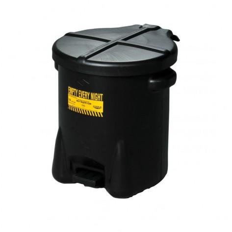 10 Gal Polyethylene - Black w/Foot Lever
