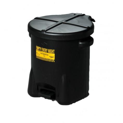 14 Gal Polyethylene - Black w/Foot Lever