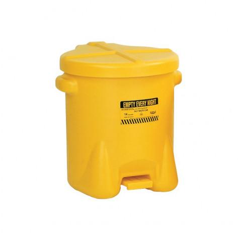 14 Gal Polyethylene - Yellow w/Foot Lever