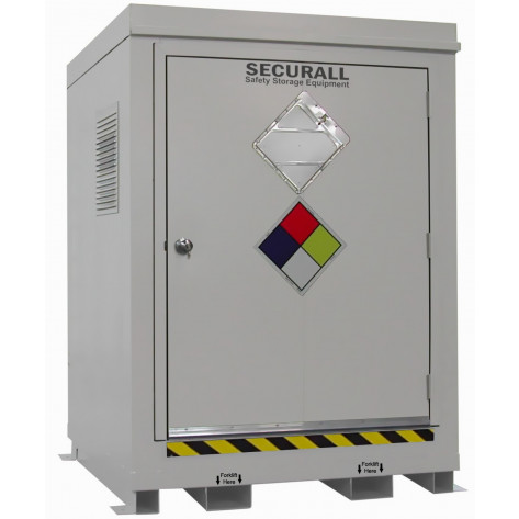 "145.1 cu ft Agri-Chemical Safety Storage Locker FM Approved Exterior Dimension 6'11""H x 5'W x 5'D; Approx. Ship. Wt. 1,898 Lbs."