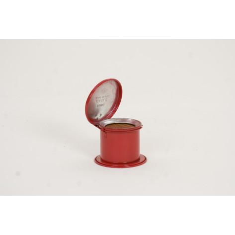 1/2 Pt. Metal - Red Daub Can