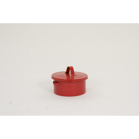 2 Qt. Metal - Red Bench Can