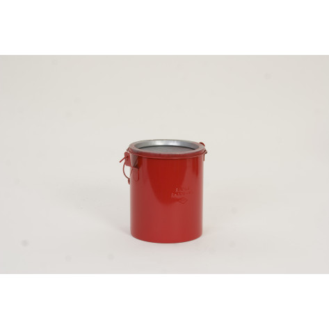 6 Qt. Metal - Red Bench Can without Lid