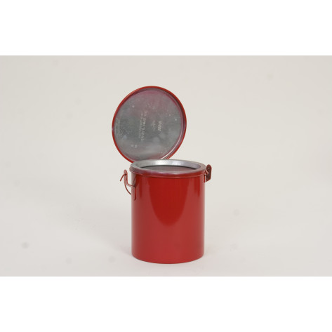6 Qt. Metal - Red Bench Can