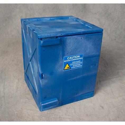 4 Gal Non-Metallic Poly, Blue, Single Door