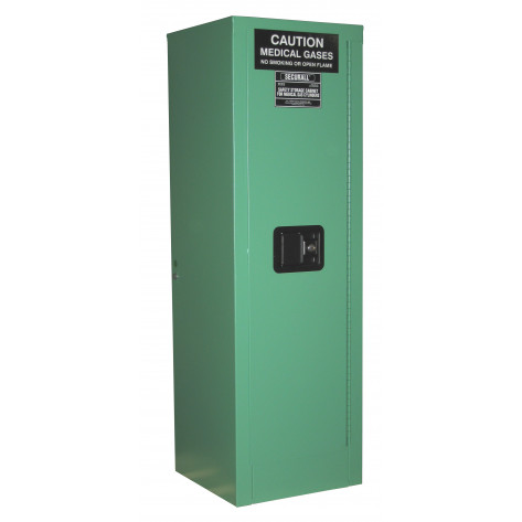 """2-4 D, E Cylinder Self-Latch Standard Door; Dimension 44""""H x 14""""W x 13-5/8""""D; Holds 2-4 D, E Cylinders; Approx. Ship. Wt. 115 Lbs"""