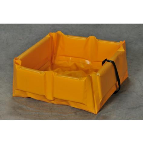 """15 Gal Folding  Quick-Deploy SpillNEST - 2'x2'x6""""-Yellow"""