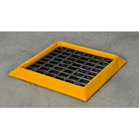 "10 Gal 1-Drum SpillNEST with HDPE Grate, 32.25"" x 32.25""-Yellow"