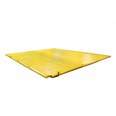 "505 Gal SpillNEST Berm with Removable Sidewalls, Economy - 12'x15'x4.5""-Yellow"