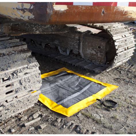 SpillNEST XT Off-Road Drip Pad w/ Grommets - 3 x6  - Yellow
