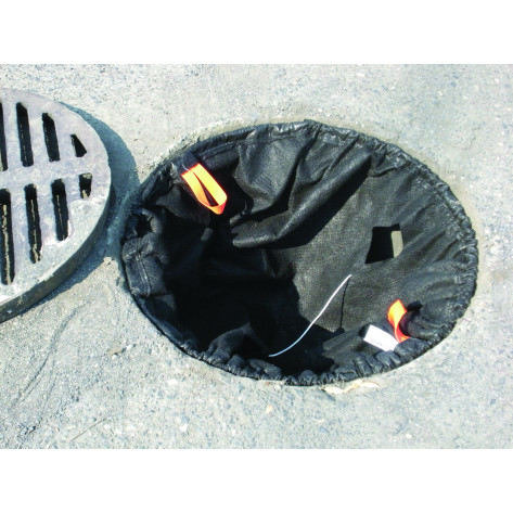 500 gpm Catch Basin Insert - Sediment-Oils, Rectangle Adjustable 16  X 20 , 28  X 36  - Black