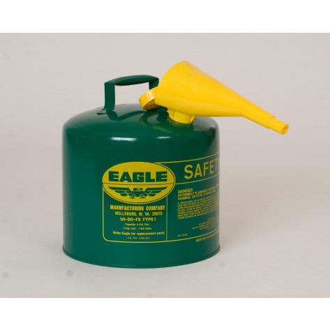 5 GAL Metal - Green (Oils or Combustibles) w/F-15