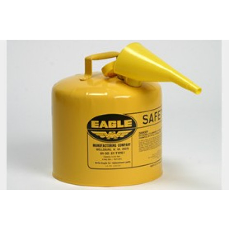5 Gal Metal - Yellow w/F-15 Funnel