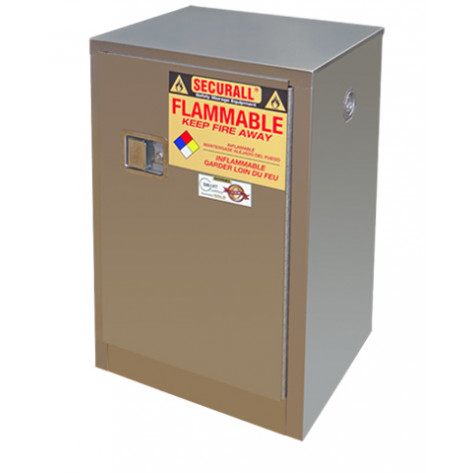 Stainless Steel Safety Cabinet 12 GAL SELF-CLOSE SELF-LATCH SAFE-T-DOOR