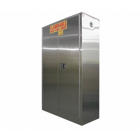 Stainless Steel Safety Cabinet 45 GAL SELF-LATCH STANDARD DOOR 65 x 43 x 18