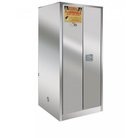 Stainless Steel Safety Cabinet 60 GAL SELF-CLOSE SELF-LATCH SAFE-T-DOOR