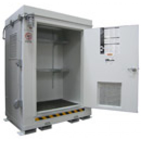 "68.4  cu ft Agri-Chemical Safety Storage Locker FM Approved 2HR Fire Rated 6'11""H x 5'W x 3'6""D; Approx. Ship. Wt. 1,431 Lbs."