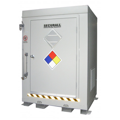 "68.4  cu ft Agri-Chemical Safety Storage Locker FM Approved 6'11""H x 5'W x 3'6""D; Approx. Ship. Wt. 1,431 Lbs."