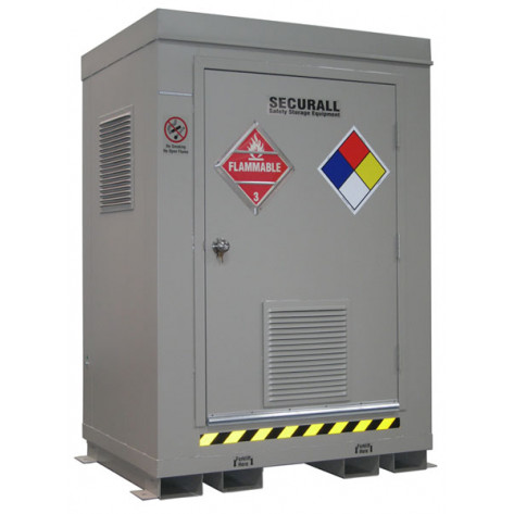 """2 Drum Safety Storage Locker FM Approved 4 HR Fire Rated 6'11""""H x 5'W x 3'6""""D; Approx. Ship. Wt. 1,781 Lbs."""