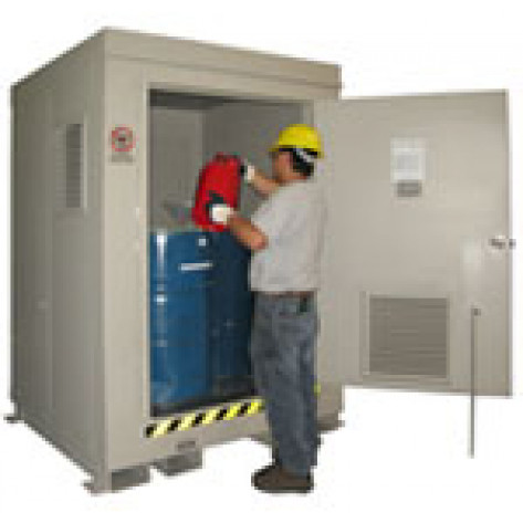 """4/55 Gal. Drum FM Approved 2HR Fire Rated Dimension 6'11""""H x 5'W x 5'D; Approx. Ship. Wt. 2,248 Lbs."""