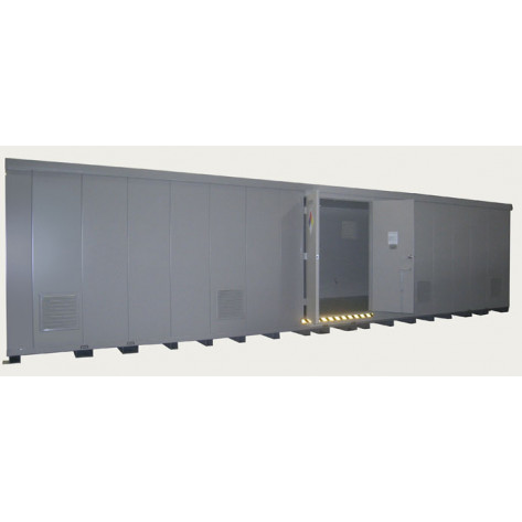 """64 Drum Safety Storage Building FM Approved 2 HR Fire Rated 8'4""""H x 34'W x 8'D; Approx. Ship. Wt. 12,851 Lbs. Approval - OSHA, FM, NFPA"""